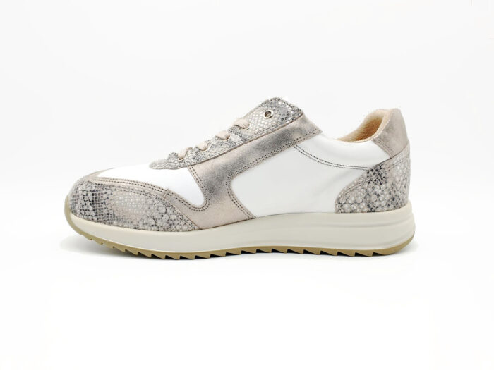 Nimco Made 4 You-7006 Sharon Lace-White / Nude Snake-schuin