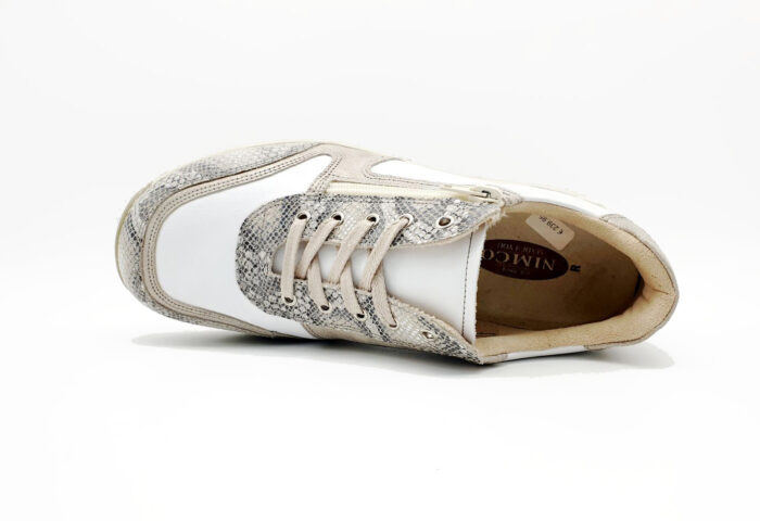 Nimco Made 4 You-7006 Sharon Lace-White / Nude Snake-bovenkant