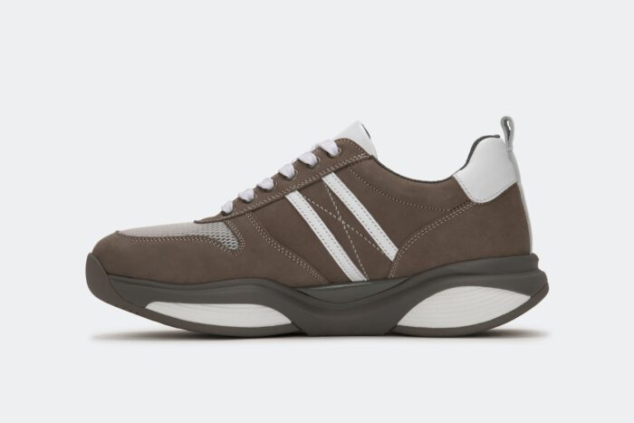 Xsensible Stretchwalker-SWX3 - Men-Taupe / White-schuin