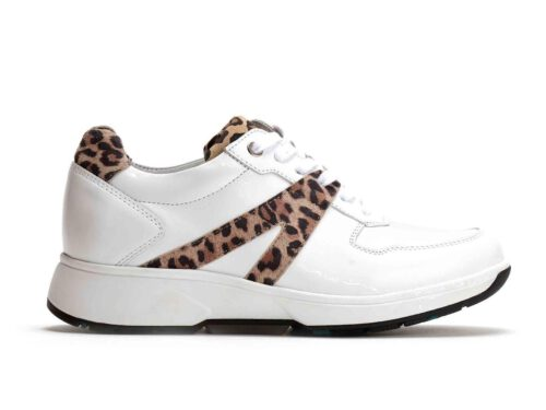 Xsensible Stretchwalker-Amsterdam-White / Leopard-links