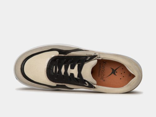 Xsensible Stretchwalker-Lima-Off White / Black-bovenkant