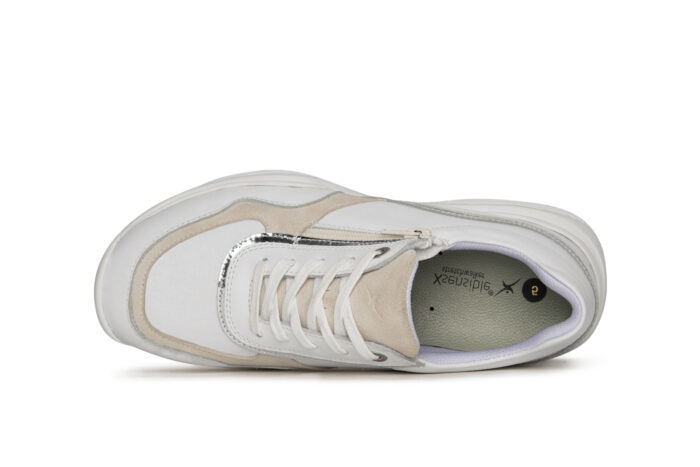 Xsensible Stretchwalker-SWX11-White / Silver-bovenkant